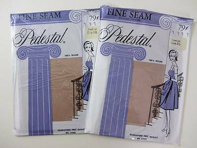 Vintage stockings fully fashioned seamed cuban heel 1950's new in packet nude