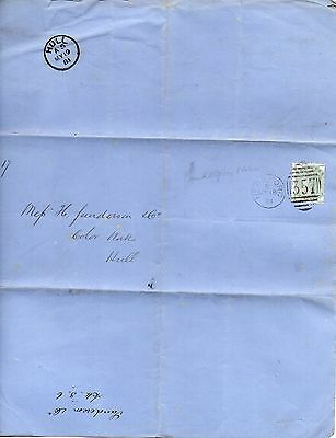 VIC 1881 ½d Stamp with HEREFORD Dupl on BANKRUPT Document HULL cds on rev RE:PH3