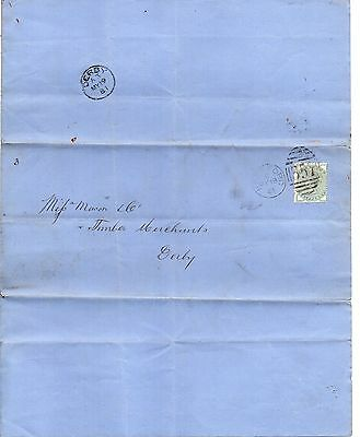 VIC 1881 ½d Stamp with HEREFORD Duplex on BANKRUPT Document DERBY cds rev RE:PH1