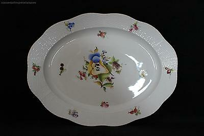 L@@K Herend Porcelain Fruits and Flowers Serving plate platter China NEW £465