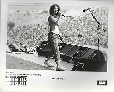 "THUNDER DANNY BOWES  1990 UK RARE 10"" x 8"" BLACK & WHITE PUBLICITY PHOTO"