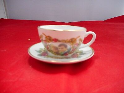 MINIATURE SUTHERLAND BONE CHINA CUP(2.5cms high)&SAUCER(6cms diameter)