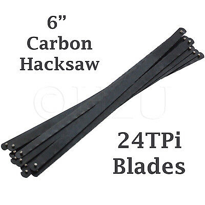 "6"" 24TPI Junior Hacksaw Saw Carbon Steel Metal Replacement Blades 150mm Cutting"