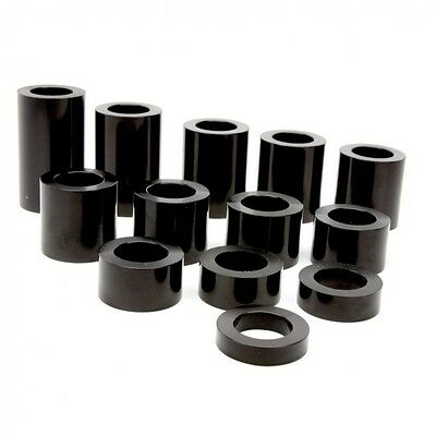Wheel Axle Spacer Kit I.D. 17 mm – O.D. 1-1/8 inch (1.1250) – 13 Spacers Black