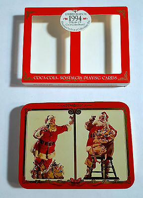 Coca Cola Nostalgia Playing Cards and Tin Holder