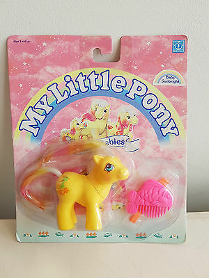 My Little Pony G1 Vintage Hasbro MOC MIB MIP UK Baby Sunbright RARE