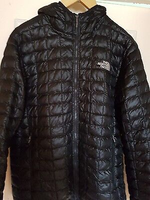 North Face black  jacket size L/G with hood