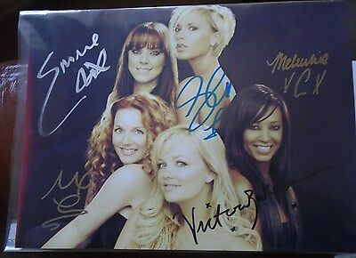 Spice Girls Personally Hand Signed & Authenticated Original Colour Photograph