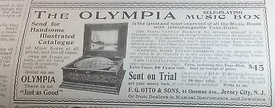 1899 Olympia self-playing music box ad