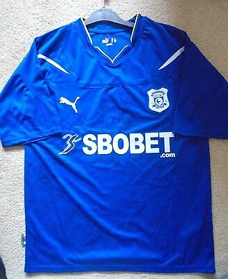 New Cardiff City Football Club Signed Home Football Shirt