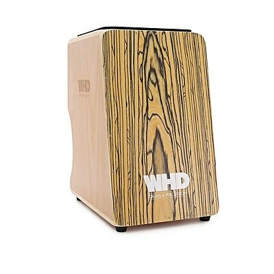 WHD Double Sided Cajon Zebrano Finish