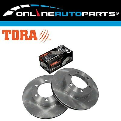 2 Front Brake Disc Rotors + Pads Set suits Toyota Prado KZJ95 RZJ95 VZJ95 96~02