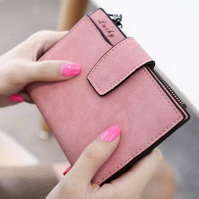 Women Mini Grind Magic Bifold Leather Wallet Card Holder Wallet Purse