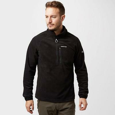 Black Craghoppers Mens Newlyn Half Zip Fleece Outdoor Clothing One Colour