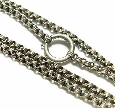 Stunning Old Antique Victorian Silver Belcher Chain Choker Collar Necklace (B2)