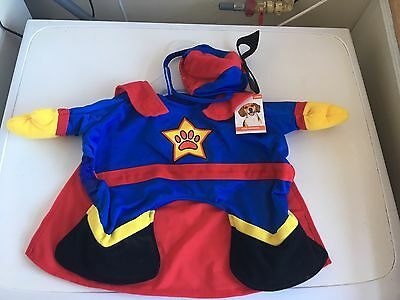 Dog Fancy Dress Superman Superhero Costume Outfit Size Large New
