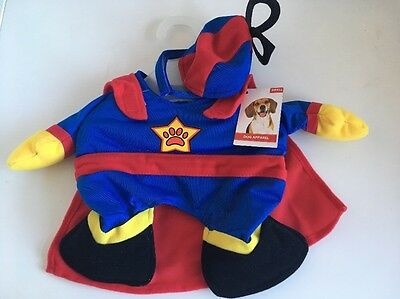 Dog Fancy Dress Superman Superhero Costume Outfit Size Small New