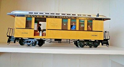 Lgb 3081 D&rgw Combine Baggage Car #3081 With  People, Baggage Kay Dee Couplers