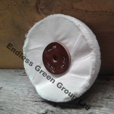Loose Leaf Cotton Buffing Wheel to clean & polish with drill  75mm x 25mm L75/80
