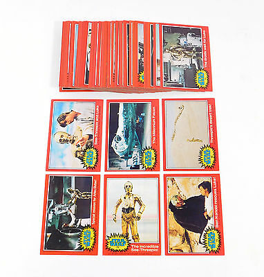 1977 Topps Star Wars 2nd Series Red Set (66) Avg Nm to Nm/Mt