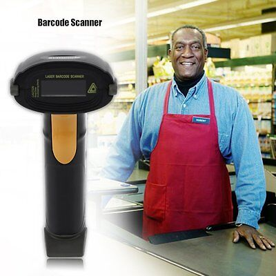Usb Barcode Scanner with Stand Handheld Automatic Reader Laser UPC EAN Code KJ