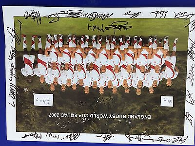 England Rugby World Cup Squad 2007 Poster