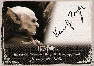 Harry Potter Memorable Moments 2 Autograph Verne Troyer as Griphook the Goblin