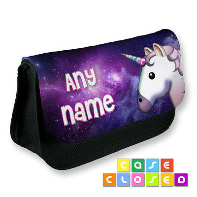 UNICORN GALAXY PERSONALISED CUSTOM CUTE Cosmetic Make Up Bag Pencil Case School