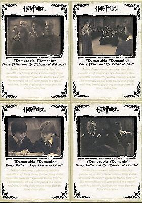 Harry Potter Memorable Moments Series 1 4 Card Bronze Stamped Set - 5 Case Inc