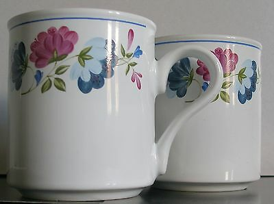 British Home Stores-Bhs Priory Mugs X 2 -Floral White