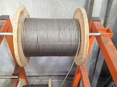 WIRE ROPE PER METER PVC COATED - STAINLESS STEEL PVC COATED  3.2mm 7X7 316