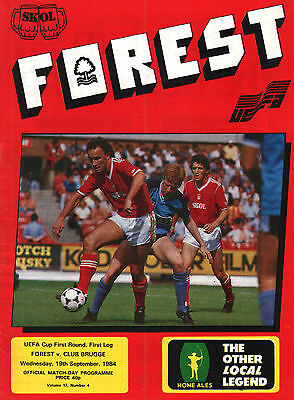 1984/85 Nottingham Forest v Club Brugge, UEFA Cup, PERFECT CONDITION
