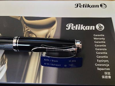 Pelikan Souveran M405 Stresemann Anthracite Fountain Pen - Medium nib