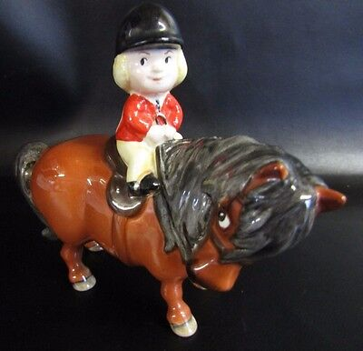 Rare 1981 Beswick,  Norman Thelman Pony Club,  Angel On Horseback - The Learner
