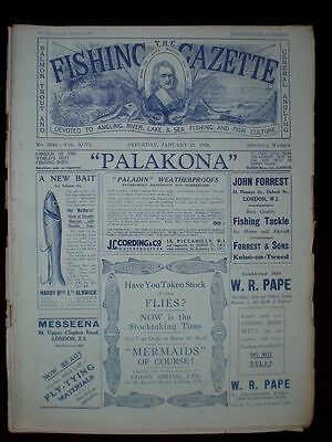 Fishing Gazette . 21th January 1928 . Vintage Newspaper . Rar . Zeitung . angeln