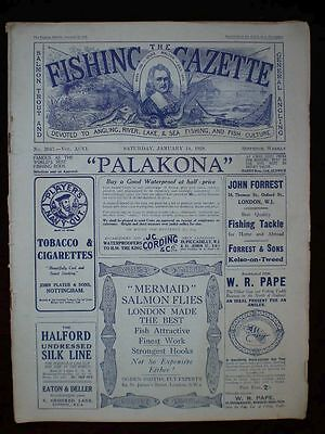 Fishing Gazette . 14th January 1928 . Vintage Newspaper . Rar . Zeitung . angeln
