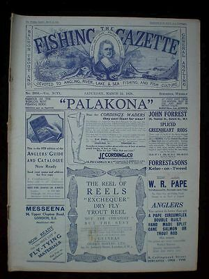 Fishing Gazette . 31th March 1928 . Vintage Newspaper . Rar . Zeitung . angeln