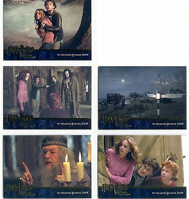 Harry Potter Prisoner Of Azkaban Complete Gold Stamped Promo Card Set 1-5
