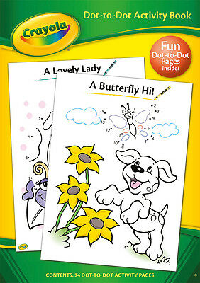 Crayola Dot-To-Dot Activity Book Children Kids Drawing Fun Colouring Book 2965