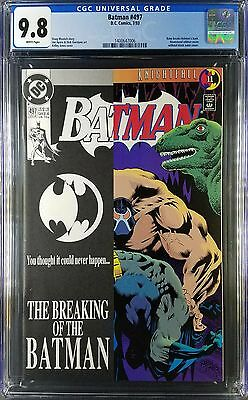 Batman (1940) #497 CGC 9.8 NM/M WHITE Bane breaks Batman's back