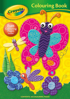 Crayola Colouring Book Butterfly Cover 48 Pages for Kids Children Learn Fun Gift