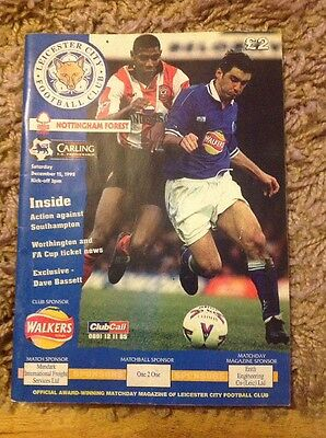 Leicester City Football Club March Programme Dec 12 1998
