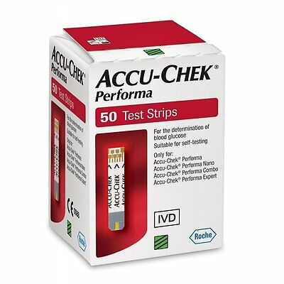 Accu-Chek Performa 4 x 50 = 200 Test Strips new in box, sealed Diabetic testing