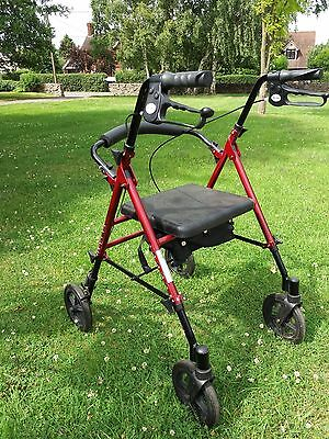 DRIVE folding wheeled walking aid with seat and useful bag