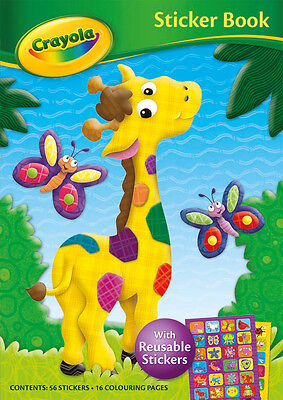 Crayola Sticker Book with reusable stickers - giraffe cover with colouring pages