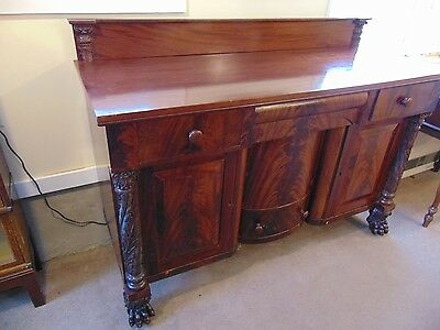 Large Antique Mahogany American Empire Sideboard