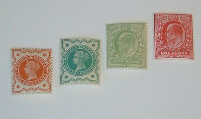 Stamp Pickers Great Britain 1887-1911 QV-KEVII Mint Lot VF MH NH x 4