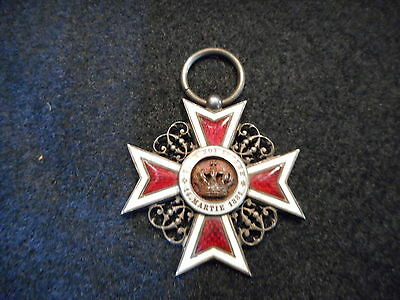 ROMANIA ROMANIAN Order of Crown MEDAL WW I II Badge Emblem