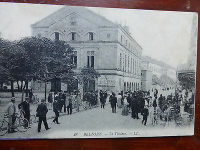 remarquable CPA Belfort  N°28 ,LE THEATRE (forte animation)