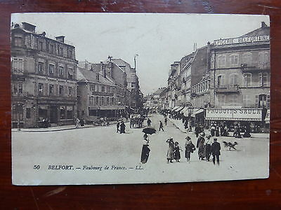 remarquable CPA Belfort  FAUBOURG  DE FRANCE    ANIMEE